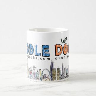 Doodle mug: Blue and Orange Coffee Mug