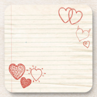 Doodle Notepad Love Letter Coaster