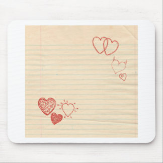Doodle Notepad Love Letter Mouse Pad