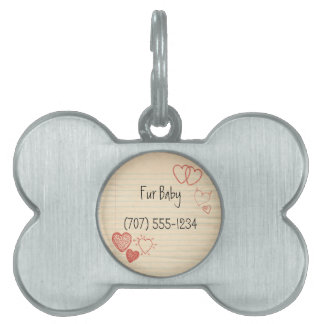 Doodle Notepad Love Letter Pet Name Tag