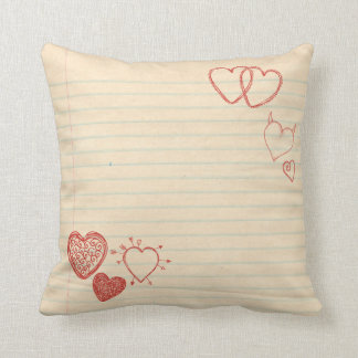 Doodle Notepad Love Letter Pillows
