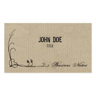 Doodle on Cardboard Business Card Template