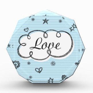 Doodle on School Paper Love Acrylic Award