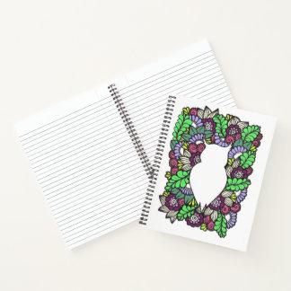 "Doodle Owl 8.5"" x 11"" Spiral Notebook"