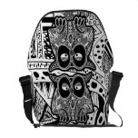 doodle owl courier bag