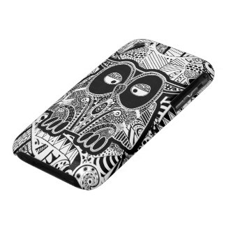 doodle owl iPhone 3 Case-Mate case