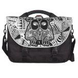 doodle owl laptop bags