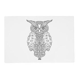 Doodle Owl Placemat