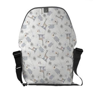 doodle pattern 2 messenger bag