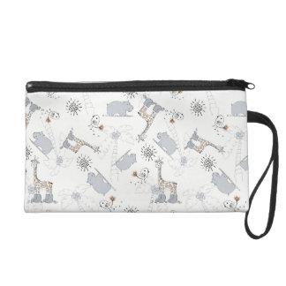 doodle pattern 2 wristlet purse