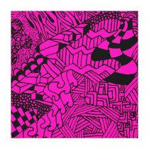Doodle Pattern Canvas Print