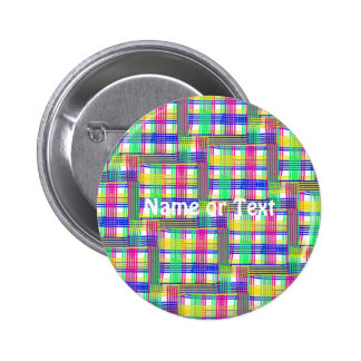 doodle Pattern Freedom white 2 Inch Round Button