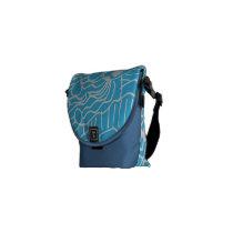 Doodle Pattern Print Messenger Bag