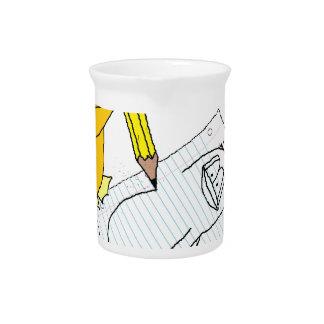 Doodle Penguin Beverage Pitcher