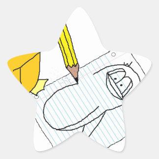 Doodle Penguin Star Stickers