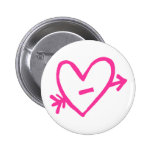 Doodle Pink Cupid's Heart Pin