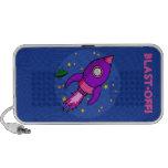 Doodle púrpura rosado de Rocket iPhone Altavoces