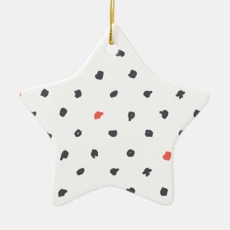Doodle que los puntos adorno navideño de cerámica en forma de estrella