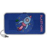 Doodle rosado azul de Rocket Mini Altavoz