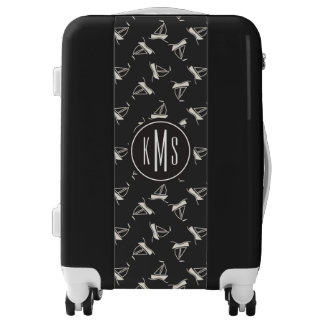 Doodle Sailboat Pattern| Monogram Luggage