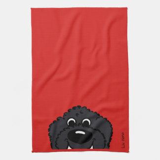 Doodle Smile black Kitchen Towel