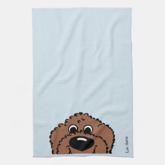 Doodle Smile brown Towel