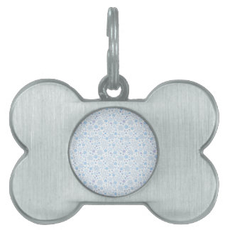 Doodle Snowflake on a white background Pet Name Tag