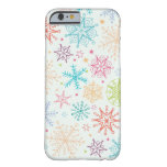 Doodle snowflakes pattern barely there iPhone 6 case