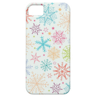 Doodle snowflakes pattern case for iPhone 5/5S