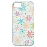 Doodle snowflakes pattern iPhone 5 case