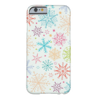 Doodle snowflakes pattern iPhone 6 case