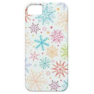 Doodle snowflakes pattern iPhone SE/5/5s case
