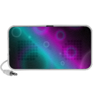 Doodle Speaker Bubbles Abstract Background