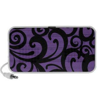 Doodle Speaker - Purple & Black Swirls & Stripes doodle
