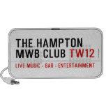 the Hampton  MWB Club  Doodle Speakers