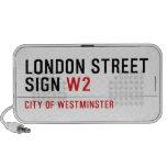 LONDON STREET SIGN  Doodle Speakers