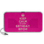 [Crown] keep calm it's my birthday bitch!  Doodle Speakers