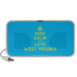 [Crown] keep calm and love west virginia  Doodle Speakers