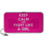 keep calm and fight like a girl  Doodle Speakers