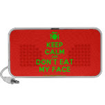 [Cutlery and plate] keep calm and don't eat my face  Doodle Speakers