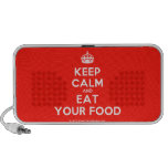 [Crown] keep calm and eat your food  Doodle Speakers