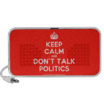 [Crown] keep calm and don't talk politics  Doodle Speakers