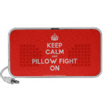 [Crown] keep calm and pillow fight on  Doodle Speakers