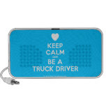 [Love heart] keep calm and be a truck driver  Doodle Speakers