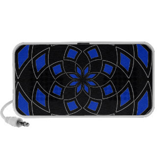 Doodle Speakers with blue black Abstract Design