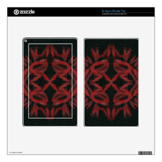 doodle tattoo black red skin for kindle fire