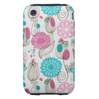 doodle tulips iPhone 3 tough case