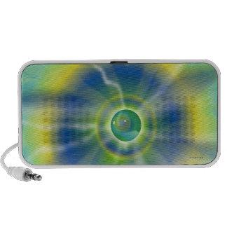 Doodle verde tropical de la luz de la lava del dis laptop altavoces