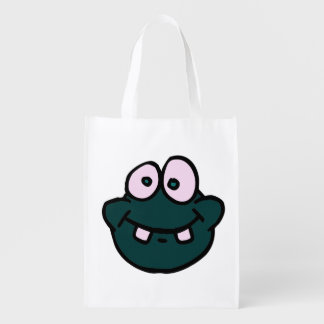 doodle wallie wear frog shopping bags market totes