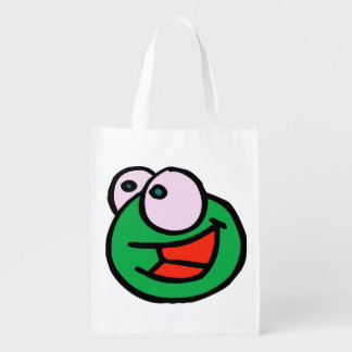 doodle wallie wear frog shopping bags grocery bag